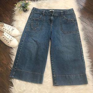 Vintage Loft Denim Wide Leg Crop Culottes